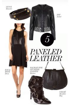 It's leather weather! Paneled Leather.