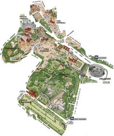 ancient centre of Rome map.including Circus Maximus, Palatine hill and the Roman Forum area. Rome Antique, Antique Maps, Roman Architecture, Ancient Architecture, Roman History, Art History, European History, American History, Ancient Rome