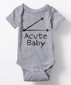 Look what I found on #zulily! Athletic Heather 'Acute Baby' Bodysuit by Geek Garb #zulilyfinds