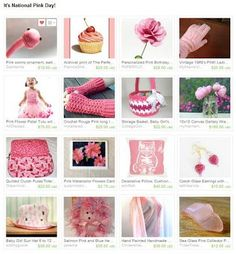 patternpatisserie: Happy National Pink Day!!! Pink Etsy Maine Team treasury