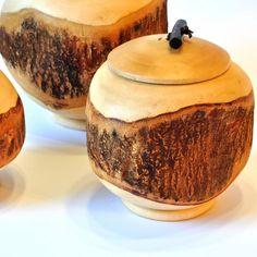 Dose Set Mango Holz 3 Stück mit Deckel