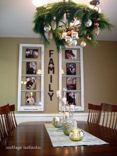 Old window pane idea... Wall art