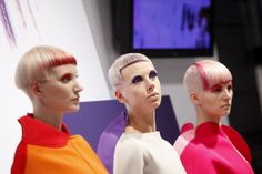 70's glam mixed with punk attitude for #Decibel, Haute Couture trend interpreted by Sassoon  #hair #beauty