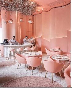 Lunch Places, Deco Rose, Coffee Restaurants, Rose Pastel, Cafe Shop, Hotel Spa, Cafe Restaurant, Store Design, Hospitality