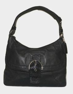 Coach Soho Black Leather Hobo Shoulder Bag Purse 19580  Coach  ShoulderBag Unique  Purses eee2b91da197d
