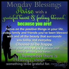 Monday Blessings Inspirations