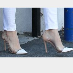 White cap toe heels!!!!  flash sale!!!! Gorgeous white cap toe heels! Perfect for a holiday party or a night out! Amazing designer inspired piece! Shoes Heels