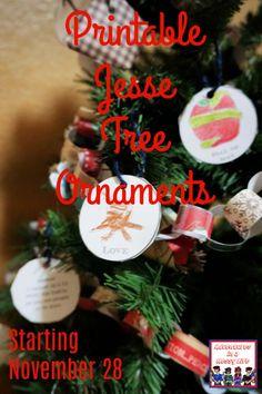 Printable Jesse Tree Ornaments starting November 28