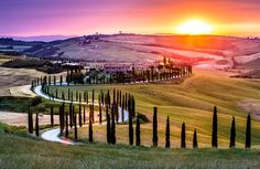 ***Sunrise (Tuscany, Italy) by Luca Micheli / 500px