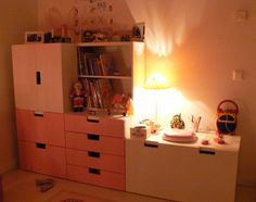 IKEA Stuva in cosy children's room.