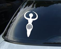 Fertility Goddess Vinyl Car Decal Wiccan Pagan Sticker