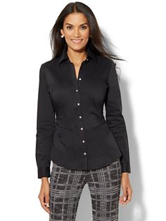 Shop 7th Avenue Design Studio - Seamed Madison Stretch Shirt. Find your perfect size online at the best price at New York & Company.