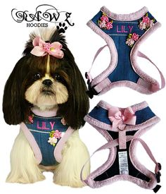 Personalized Spring Blooms Pink Harness