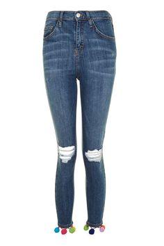 MOTO Pom Pom Hem Jamie Jeans