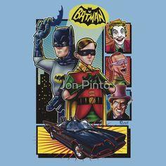 Artwork by Jon Pinto Batman 1966, Batman And Superman, James Gordon, Superhero Bathroom, Batman Room, Crime, Batman Stuff, Classic Monsters, Trek