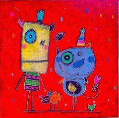 Julie Miville Kid Art, Art For Kids, Crafts For Kids, Julie, Little Monsters, Halloween Kids, Doodle Art, Zentangle, Doodles