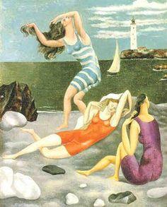 Le Bagnanti, Les Baigneuses, Biarritz 1918 Pablo Picasso