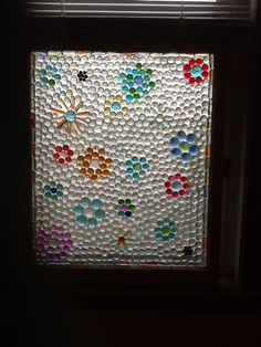 Glass gem window Mosaic Projects, Stained Glass Projects, Mosaic Art, Mosaic Glass, Marble Art, Marble Crafts, Mosaic Windows, Window Art, Window Ideas