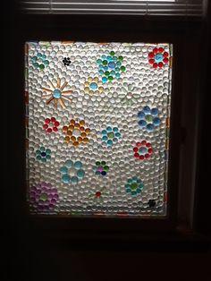 Glass gem window