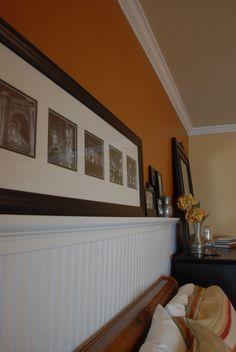 plate rail beadboard bedroom