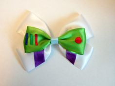 Buzz Lightyear Hair Bow Toy Story Disney by bulldogsenior08, $8.50