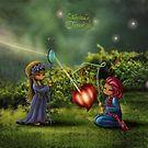 « Quintessence » par Sabrinatanase-a Illustation enfant féerique physalis lumière  Illustration child fairy tale physalis light