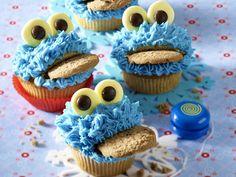 Perfekt für jeden Kindergeburtstag - kruemelmonster-muffins  Rezept