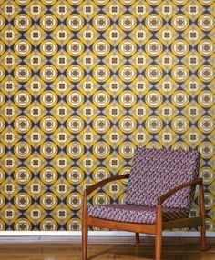 Vintage Geometric Yellow Wallpaper Tiles | Wallpaper Tiles