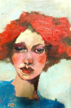 Red Jules Original  Oil Painting  by CGallaFineArt, $850.00 -repinned by http://LinusGallery.com  #art #artists #oilpainting