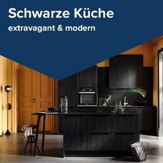 kuche in schwarz modern cool und vielseitig jetzt planen