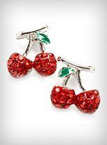 Sparkling Cherries Earrings