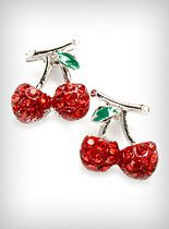 Sparkling Cherries Earrings at PLASTICLAND