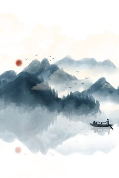 Japanese Watercolor, Japanese Painting, Chinese Painting, Japanese Drawings, Japanese Art, Landscape Painting Images, Calligraphy Background, Chinese Background, Drawing Scenery