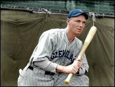 Johnny Burnett 1932 Cleveland Indians. Still holds the record for most hits in a game with 9 in 11 at bats