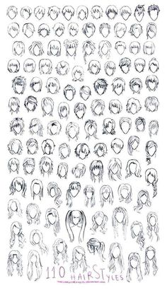 Drawing Techniques, Drawing Tips, Drawing Ideas, Wie Zeichnet Man Manga, Drawing Hair Tutorial, Manga Tutorial, Hair Sketch, Drawing Expressions, Hair Reference