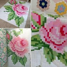 BIG NEWS! Our highly anticipated Pixel Rose Quilt pattern using our @crayola…