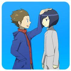 Akiyama Ryo and Ichijouji Ken