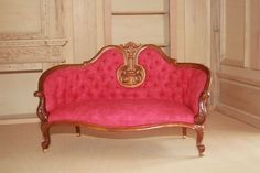 1/6th scale lounge chesterfield fits 12 - 14 inch doll JBM high quality