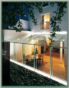 Rick Mather :: project :: all glass extension House Extension Design, Glass Extension, Roof Extension, House Design, Ideas Terraza, Glass Conservatory, Glass Porch, Glass Room, Glass Boxes