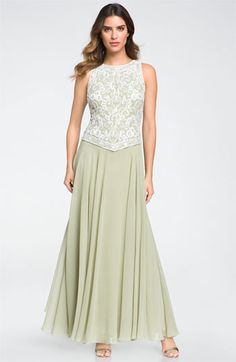 J Kara Embellished Sleeveless Crepe Gown available at #Nordstrom -- mother of the bride