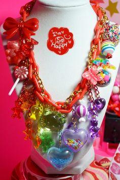 I Love Rainbow Super Sweet Chunky Yummy Charms Kawaii Necklace