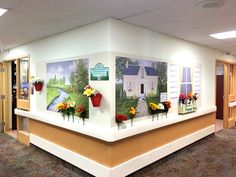 Not every care home has 18 feet of straight wall space.this engaging interactive mural is adaptable! Visiting family love it too as it offers a destination and something to do and talk about!