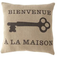 I pinned this Bienvenue Pillow from the Shiraleah event at Joss and Main!