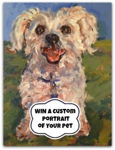 Win a Custom Oil Painting of YOUR Pet from NYC Pet Portraits - The Pet Blog Lady - Celebrating Our Pets