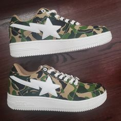 bd8fdc23af18a Bape Shoes | Nwb Bapesta Bathing Ape Sta Abc Camo-Size Mens 9.5 | Color