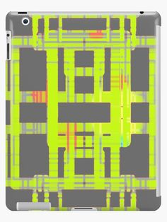 Buy 'Symmetrical figure simmilar to printed circuit board, map or algorithm version2 glowing yellow' by M-Lorentsson as a Classic T-Shirt, Graphic T-Shirt, Women's Chiffon Top, Contrast Tank, Graphic T-Shirt Dress, Sticker, iPhone Case, iP...