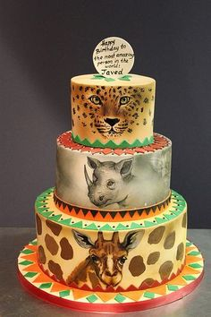 Jungle Safari and Zoo Cake Ideas Inspirations Safari birthday