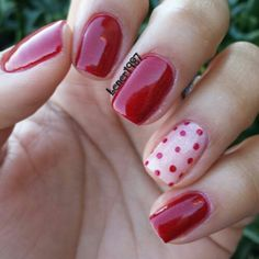Polka Dot Nail Art Manicure