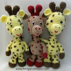 Smiley Crochet Giraffe