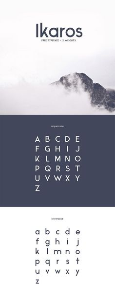 60 Quality FREE Fonts You Probably Don't Own, But Should! - I like the Ikaros font Typeface basic principles Font Design, Web Design, Graphic Design Typography, Japanese Typography, Type Design, Clean Design, Vector Design, Typography Inspiration, Graphic Design Inspiration